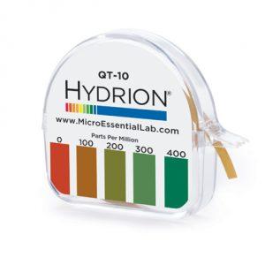 Hydrion QT-10 Quat Test Paper 0-400 PPM