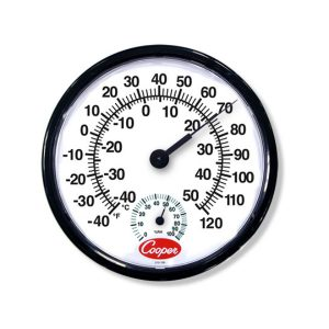 Cooper-Atkins Malaysia 212-150 | 12-Inch Wall Thermometer/Humidity Meter -40°~50°C, 0°~100%RH