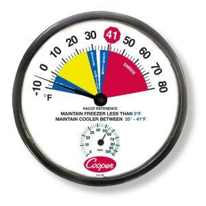 Cooper-Atkins Malaysia 212-159 | 12-Inch HACCP Cooler/Freezer Thermometer -10°~80°F, 0~100%RH
