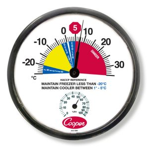 Cooper-Atkins Malaysia 212-159C 12-Inch HACCP Cooler/Freezer Wall Thermometer (Celsius) -25°~35°C,0~100%RH