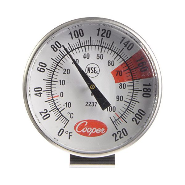 Cooper-Atkins Malaysia 2237-04-8 1.75-Inch Dial Espresso Milk Frothing Thermometer 0°~220°F/-10°~104°C