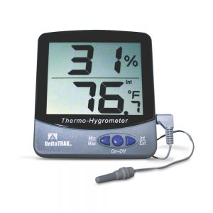 DeltaTrak Malaysia 13307 Jumbo Display Wall Mount Thermo-Hygrometer -50°C~70°C, 20%RH~90%RH