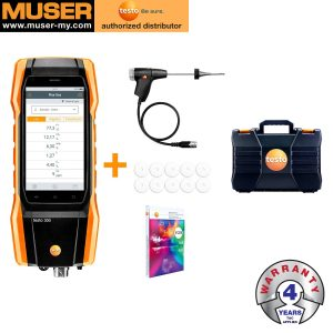 Testo Malaysia Testo 300 Longlife Kit 2 | Flue Gas Analyzer (O2, CO H2-compensated up to 30,000 ppm, NO - can be retrofitted)